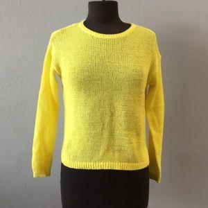LOFT Bright Sunshine Yellow Sweater